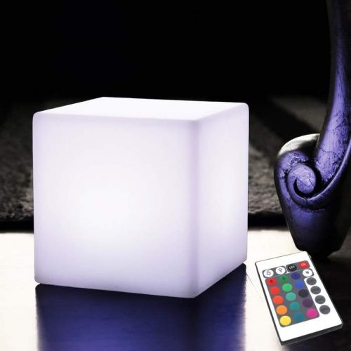 10cm Wireless Cube Lamps, Warm White Glow Cube