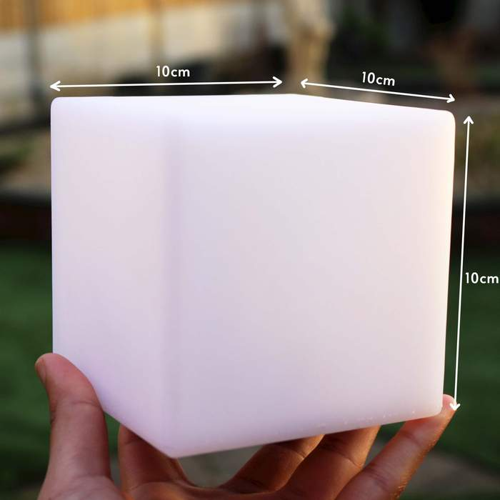10cm Wireless Cube Lamps, Warm White Glow Cube