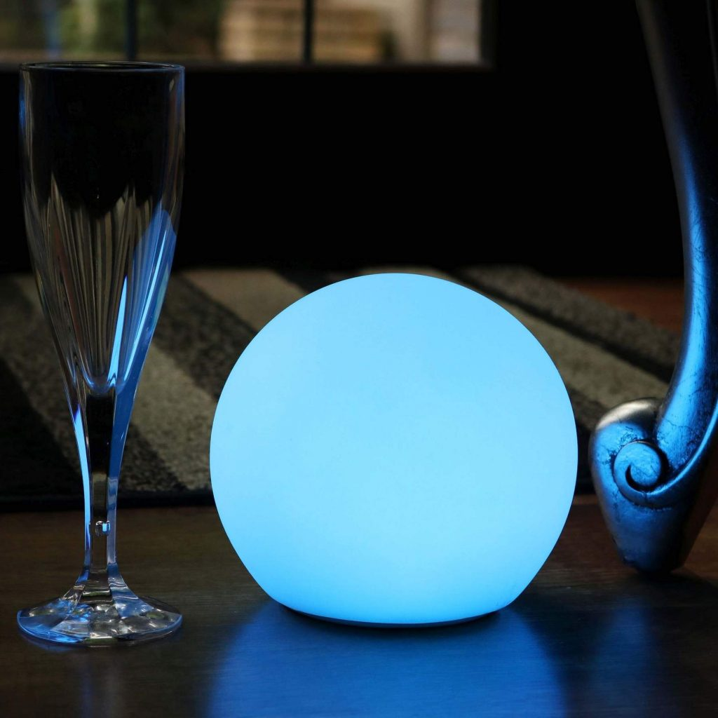 12 cm Table Beside Sphere Lamps, 4.7 inch Indoor lighting Balls, RGB LED Balls