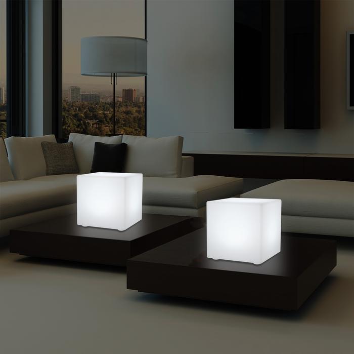 15cm Cube Light Box, Warm White light-up Cube