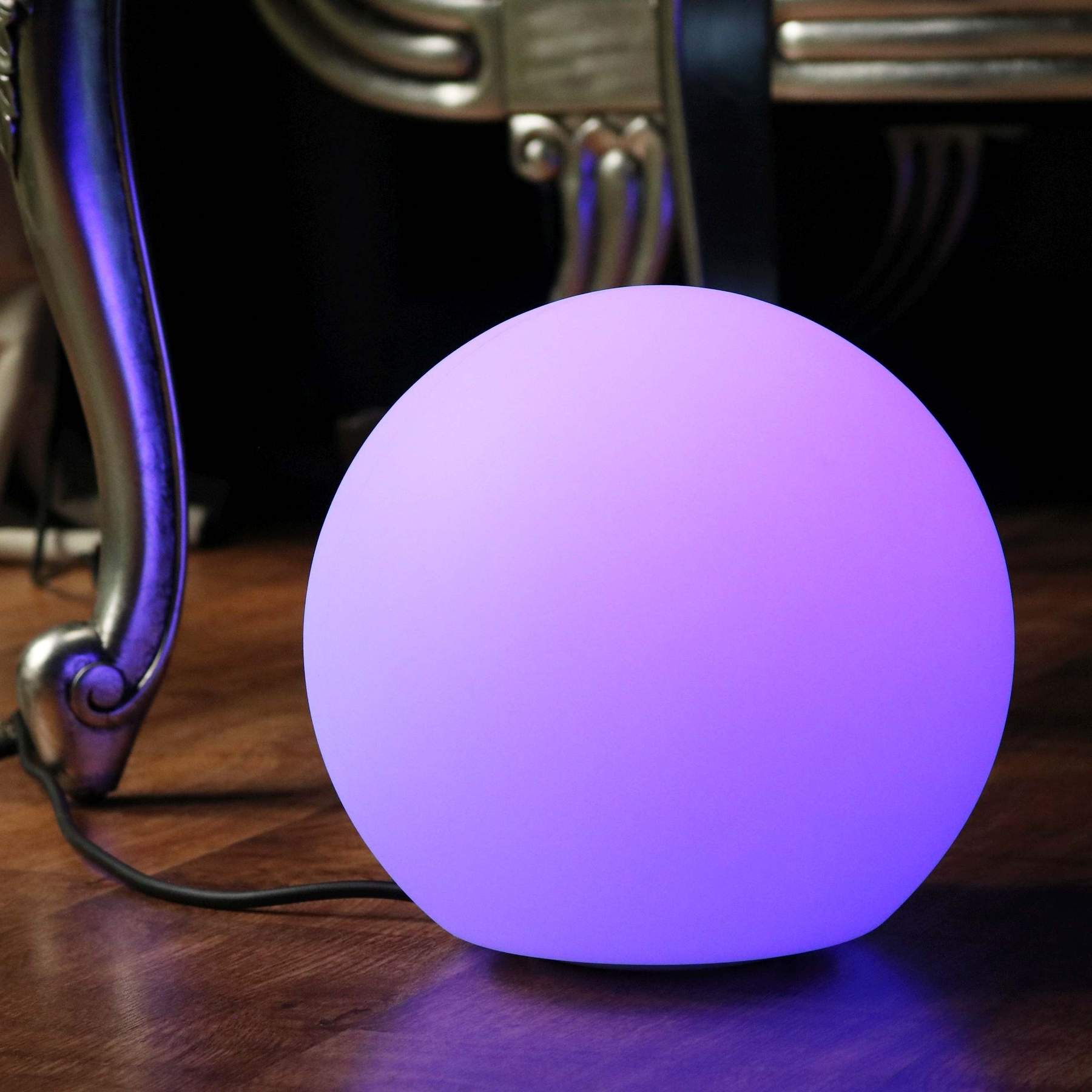 20 cm Table Globe Ball Lamps, 7.9 inch Indoor Wireless Light up Balls, Color Changing Balls