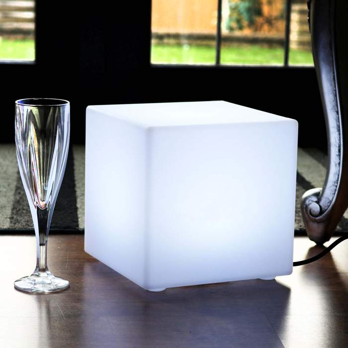 20cm E27 Bulb Cube Lamp, Decoration Cube On The Table
