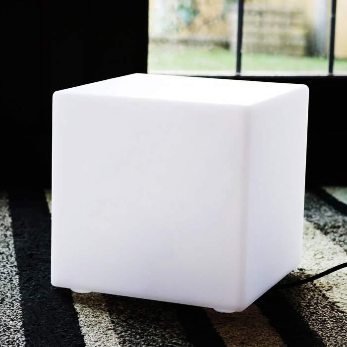 20cm E27 Bulb Cube Lamp, Decoration Cube On The Table