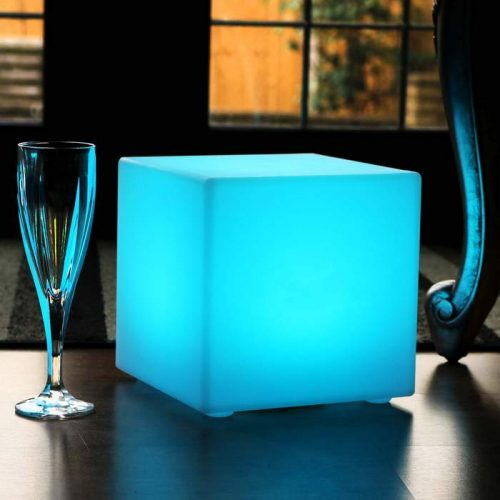 20cm Solar Energy Cube Table Lamps, Decoration lighting Cubes