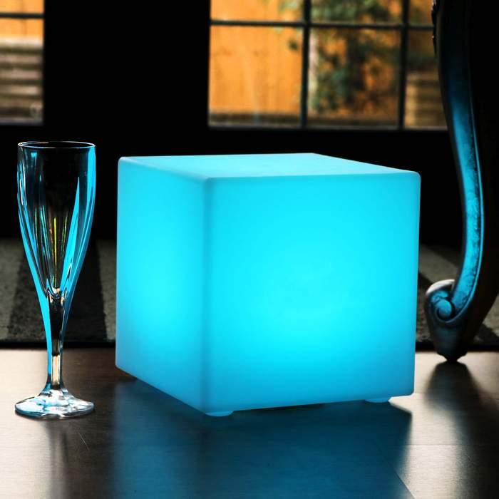 20cm Solar Energy Cube Table Lamps, Decoration lighting Cubes