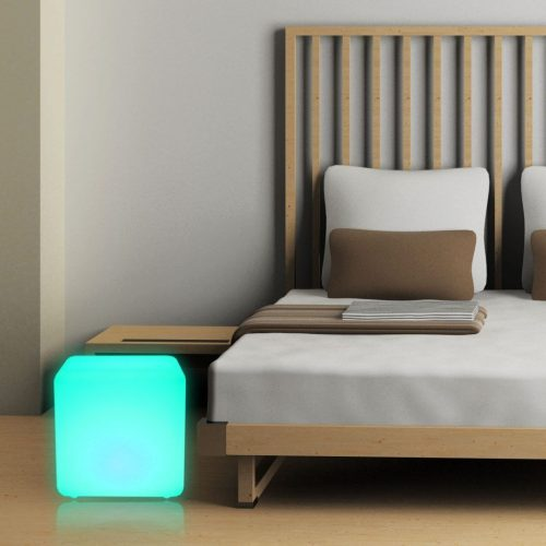 40cm Glow LED Cube Seat Stool, RGB Outdoor Lighting Cube