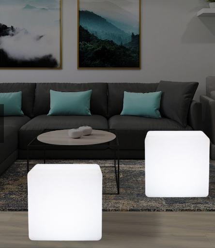 40cm Warm White lighting Cube Chair
