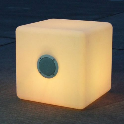 LED Cube Lamp With Bluetooth Speakers