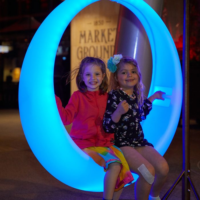 LED round swing chair