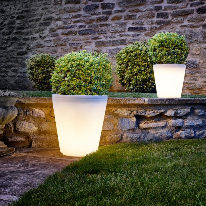 Round LED Flower Pots