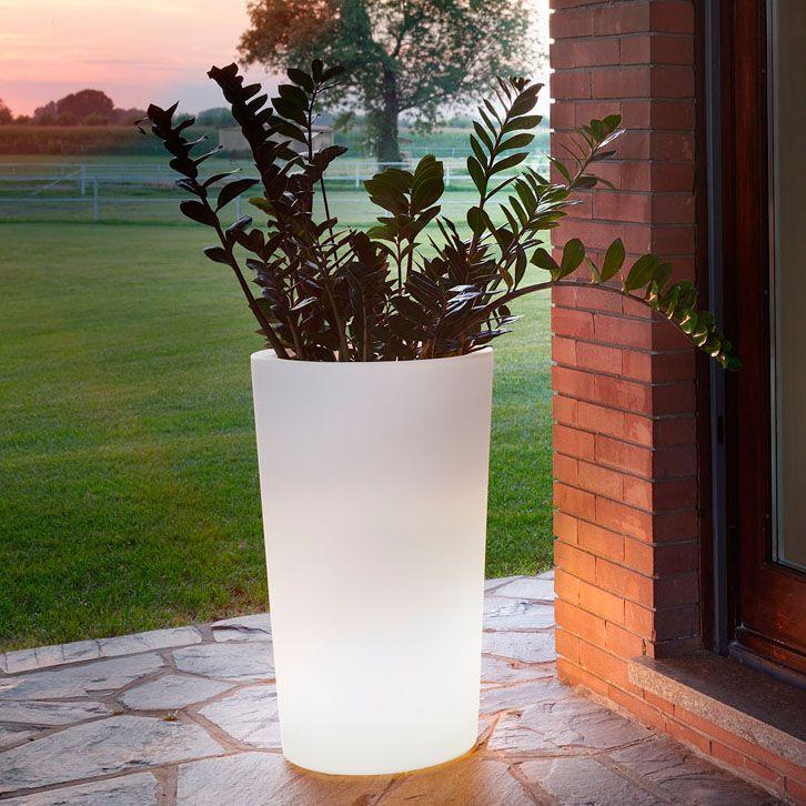 Round Pillar LED Flower Pots