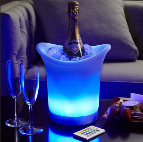 Two corner LED ice buckets