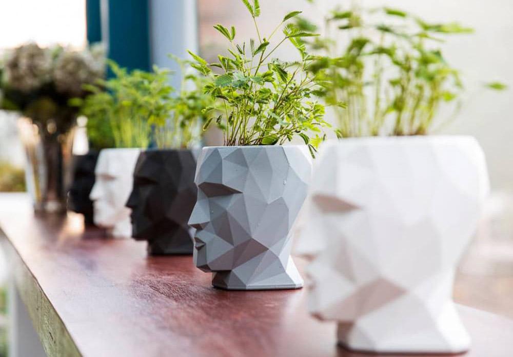 led head planters